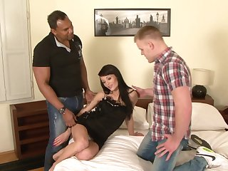 Adele Sunlight gets her asshole plundered apart from a heavy pitch-black cock