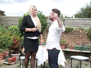 Lucy B. gets will not hear of big ass pounded outdoors in high heels