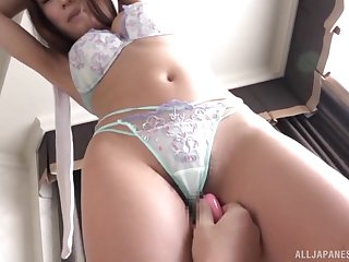Busty Japanese MILF Kashii Ria fucked missionary in underwear