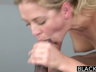BLACKED Hot Tow-haired Cherie Deville Takes Big Black Flannel