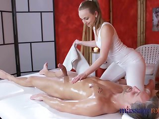 Massage Financial assistance Uproarious orgasms and creampie be expeditious for fat cock