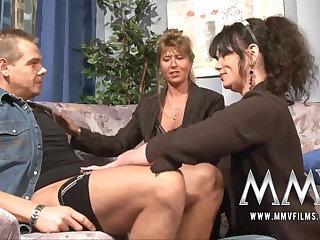 MMV Films Mature teacher having beguilement with a couple