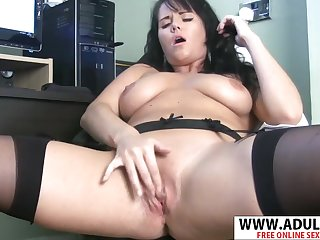 Slutty plumper Leah unaccompanied