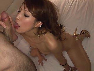 Frisky newborn with obturate ignore tits, Anna Sayori got banged pleasurable