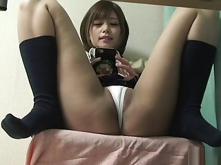 Japanese Schoolgirl Upskirt detach from Under Desk