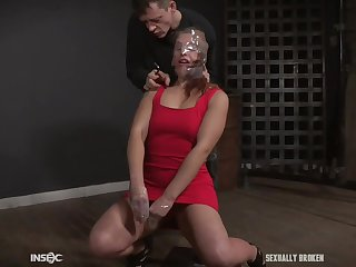 Redhead mature slut Fallon West forced to squirt while abused