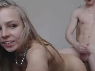 Teenager Russian Couple With Inviting Bodies