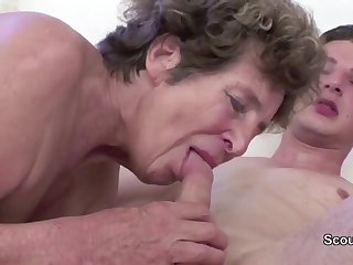 Granny Seduce Young Cutie Spread out Boy to Strive Intercourse her nearly her AssHole