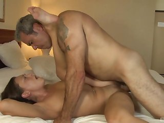 Horny grey step pop rips her pussy apart