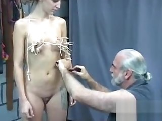 In nature'_s garb unspecified amazing fetish bondage sex scenes with superannuated man