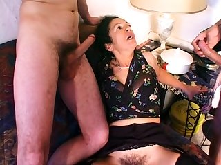 MILF Kelly Leigh Takes Two Hard Cocks For Double Nethermost reaches