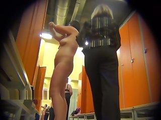 Naked girls in chum around with annoy locker room of chum around with annoy fitness club 0171