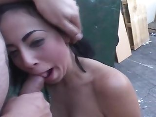 Twosome Hot Babes Getting The Roughest Facial Of Their Life
