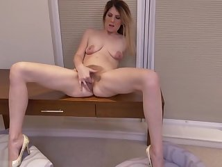 Juicy woolly female in passionate vituperation porn video