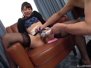 Konoka Yura residuum up riding hard after a spot on target toy starup
