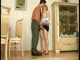 Buxom housemaid Sara sucks big dick and gets fucked unending up hot poses