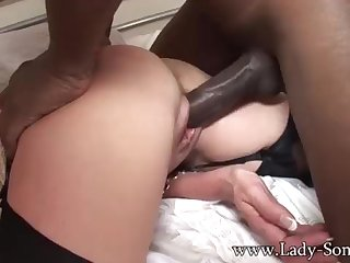 Brit COUGAR gets poked off out of one's mind BIG BLACK COCK dimension Cuck witnesses