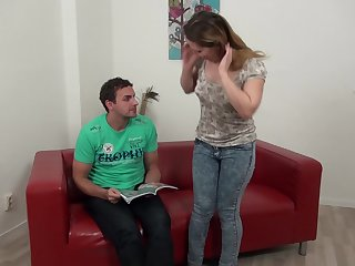 Hung ray uses his huge cock to facefuck Lily Ladina