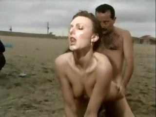 Socking milf sex on the beach