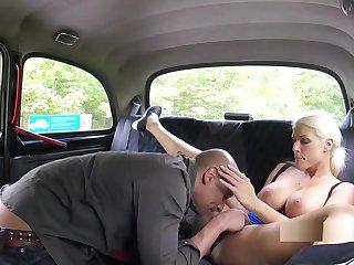 Baldheaded Guy Bangs Busty Hansom cab Driver