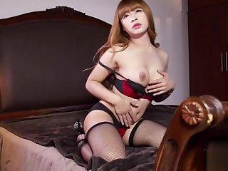 Hot ladyboy sex added to cumshot