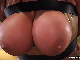 Required up big hooters bitch not far from latex nailed
