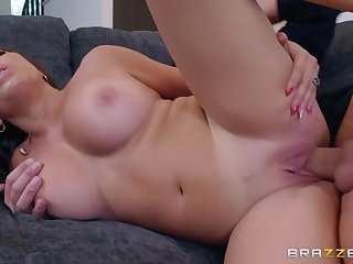 Hot blooded model Julianna Vega hardcore sex peel