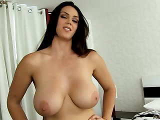 Sensual dark-haired with fat funbags, Alison Tyler luvs anent deep-throat meatpipe together with taste some original jizm