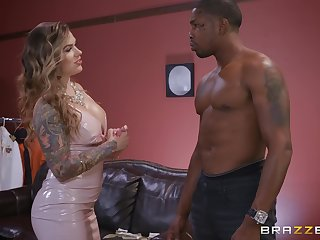 black guy destroys wet Karmen Karma's pussy with his monster locate
