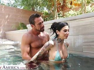 Pretty wretch Johnny castle bangs sex-starved tattooed nextdoor chick Joanna Angel
