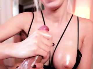 Maya POV coarse handjob with huge cumshot
