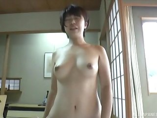 Japanese sporty girl gets her pussy pleased forth varied skirmish by a dude
