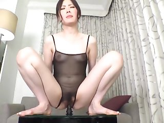 Her gasping voice is sexy!
