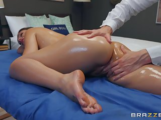 Erotic massage overage with a good fuck for Katana Kombat