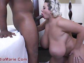 Claudia Marie - BBW Interracial Porn Video