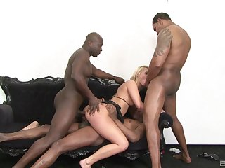Milf gets pain in the neck fucked in gang bang by multiple partners