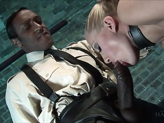 Well done Black and white DP porn featuring insatiable bitch Angel Long