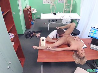 Doctor's big dick suits this blonde's thirst be expeditious for porn