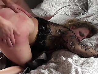 Mature loads will not hear of ass and pussy with young nephew's dick