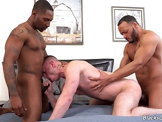 Black hunks fucks  a gay lad and cum uppish arse