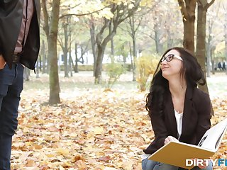 Nika Charming doesn't mind fucking a stranger as crave as he's taking