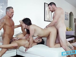 Addictive cam sex in scenes be advantageous to father-son foursome