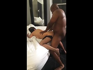 Lewd whore incredible interracial video