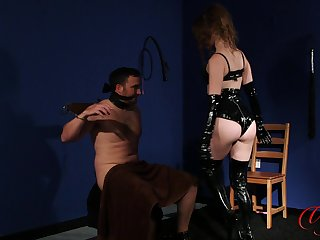Dirty dominant wife Brook Logan promised her hubby just about agony him