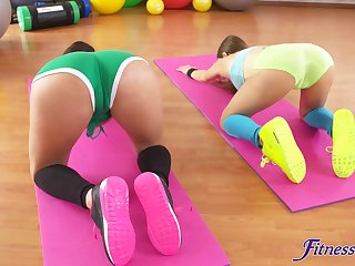 Abnormal lesbian ass eating motivation fit Coco de Mal and Talia Mint