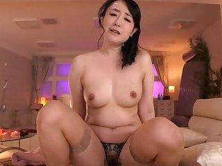 Homemade video of big butt Kudou Naomi riding a dick down reverse