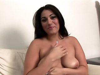 Insane pornographystar in epic solo woman, ginormous baps slime film over